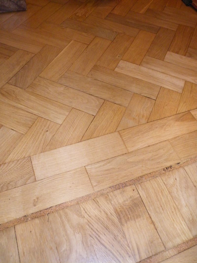 Oak herringbone floor 60's era