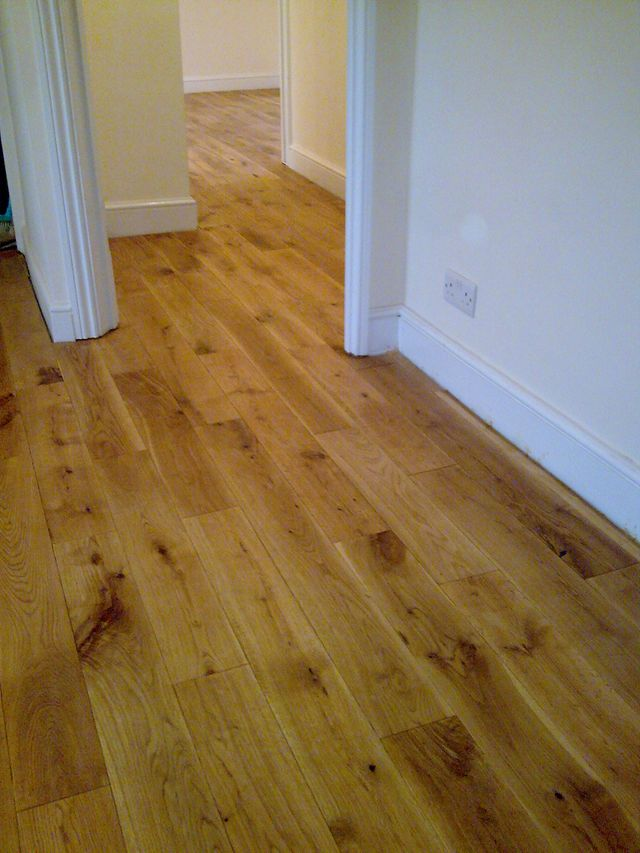 Rustic french oak flooring polished with liberon wax