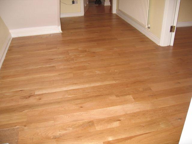 American oak hallway